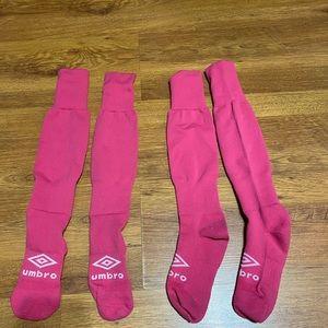 Umbro 2 Pairs Of Soccer Socks